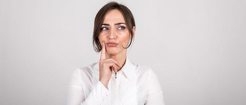 Woman emotions in studio